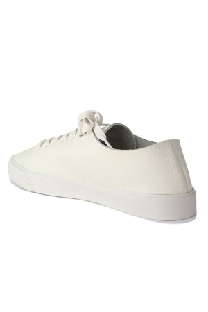Pluto White Leather Sneaker Back