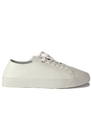 Pluto White Leather Sneaker Side