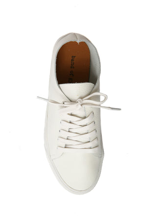 Pluto White Leather Sneaker Top