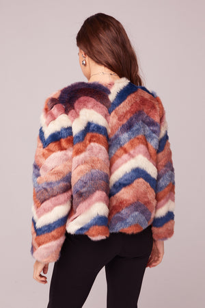 Purple Haze Faux Fur Jacket Back