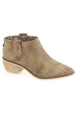 Rainier Burnished Micro Cowsuede Taupe Bootie Master