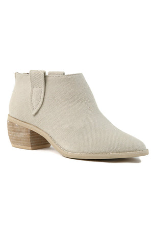 Rainier Canvas Ecru White Bootie Master