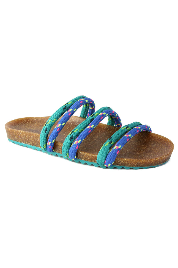 Rhea Blue and Green Climbing Rope Slide Sandal Master