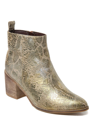 Rodeo Gold Snake Effect Leather Boot Master