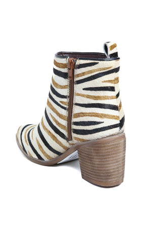Rodeo Multi Zebra Cowhair Leather Boot Back
