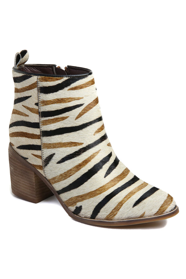 Rodeo Multi Zebra Cowhair Leather Boot Master