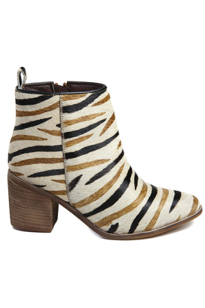 Rodeo Multi Zebra Cowhair Leather Boot Side