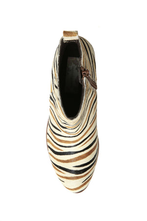 Rodeo Multi Zebra Cowhair Leather Boot Top