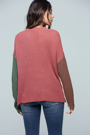 Rosa Colorblock Stripe Sweater Back