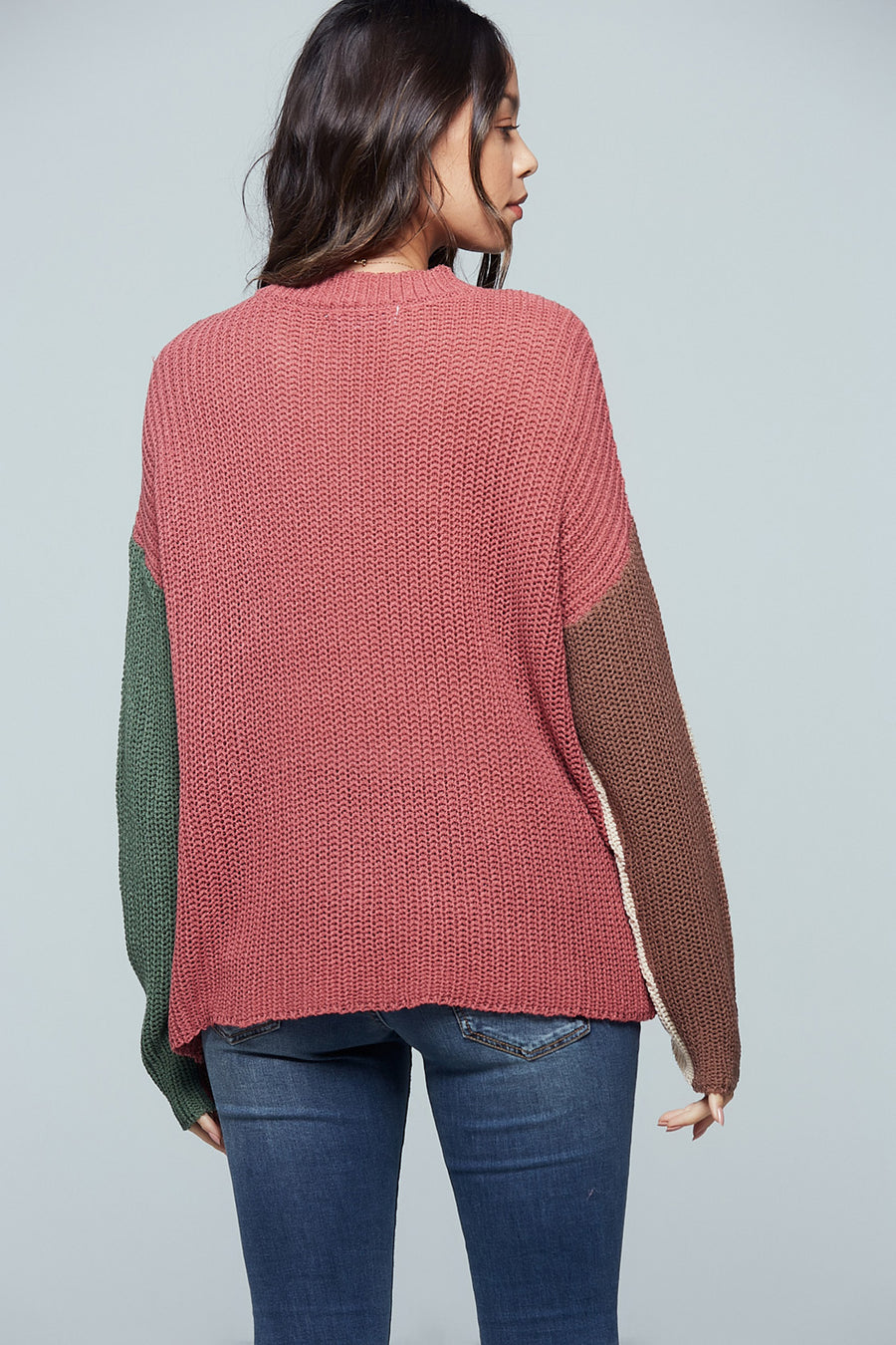 Rosa Colorblock Stripe Sweater Master