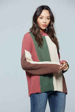 Rosa Colorblock Stripe Sweater Detail 2