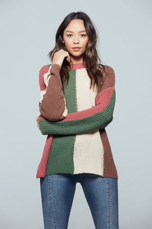 Rosa Colorblock Stripe Sweater Detail