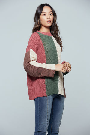 Rosa Colorblock Stripe Sweater Side