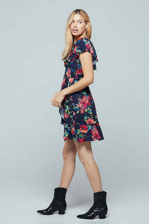 Rose Island Floral Smocked Mini Dress Side