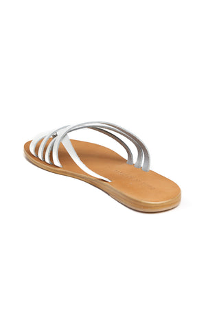 Rose White Leather Strappy Sandal Back