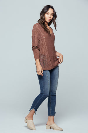 Sandy Bay Open Stitch Sweater Side