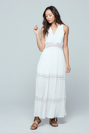 Santorini Lace Tiered Maxi Dress Detail2