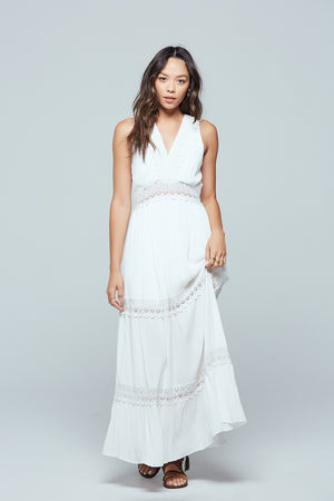 Santorini Lace Tiered Maxi Dress Detail