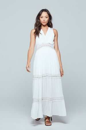 Santorini Lace Tiered Maxi Dress Master