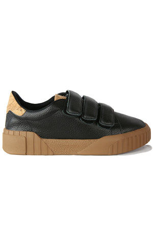 Saturn Black Velcro Platform Sneaker Side