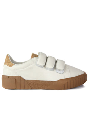 Saturn White Velcro Platform Sneaker Side