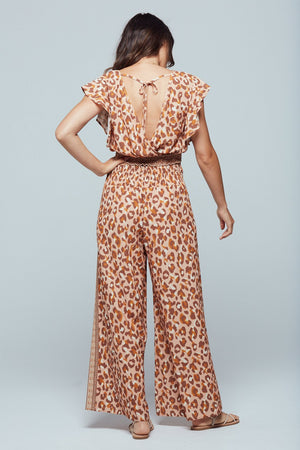 Savanna Border Print Wide Leg Wrap Pant