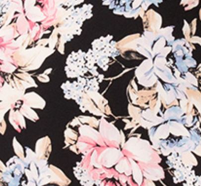 Sao Paolo Floral Print Crop Top Swatch