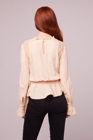 Shirley Victorian Ivory Lace Blouse Back