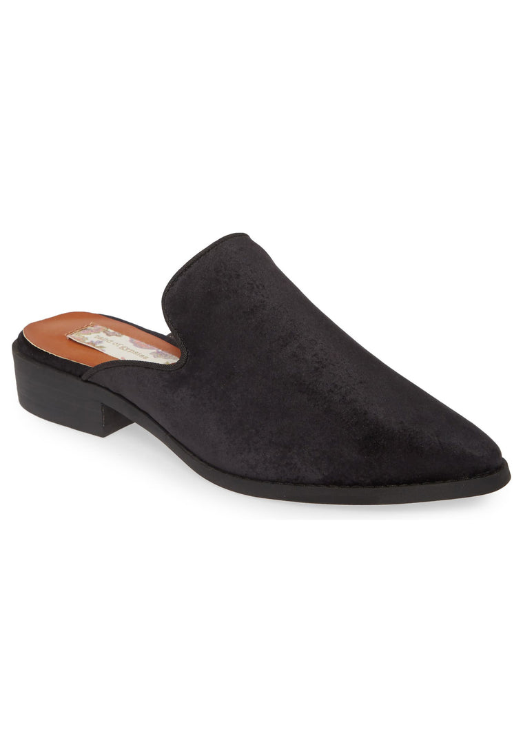 Skipper Black Velvet Loafer Mule Master