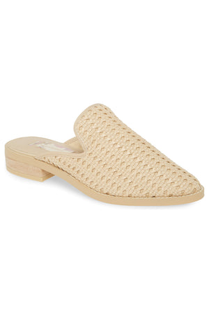 Skipper Ivory Woven Vegan Leather Loafer Mule Master