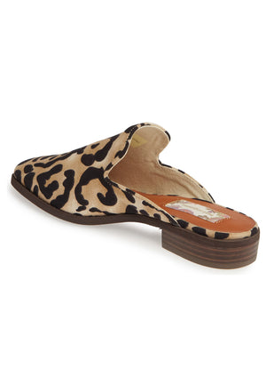 Skipper Leopard Print Loafer Mule Back