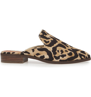 Skipper Leopard Print Loafer Mule Side