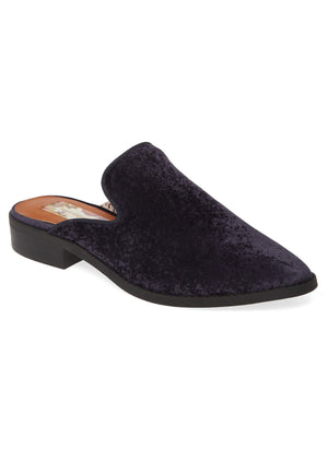 Skipper Midnight Blue Velvet Loafer Mule Master