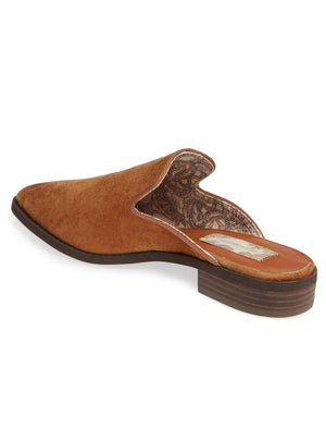 Skipper Tan Velvet Loafer Mule Back