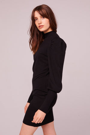 Slauson Black Sweater Mini Dress