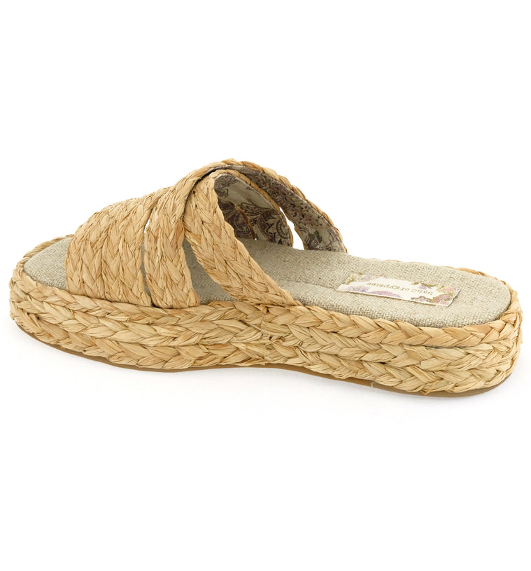 Solstice Natural Vegan Platform Slide Sandal Back