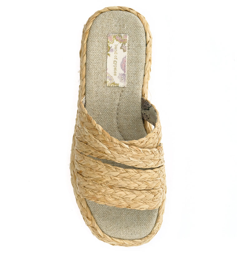 Solstice Natural Vegan Platform Slide Sandal Top