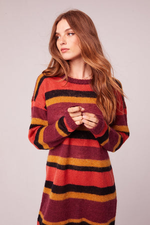 Sourir Striped Mohair Blend Sweater Dress