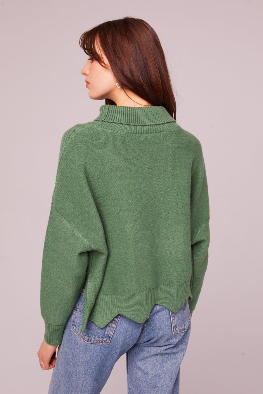 Speedway Cable Knit Scalloped Edge Sweater Master