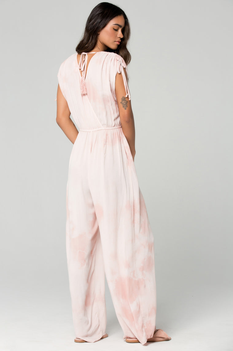St Martins Blush Tie Dye Surplus Jumpsuit Back 3
