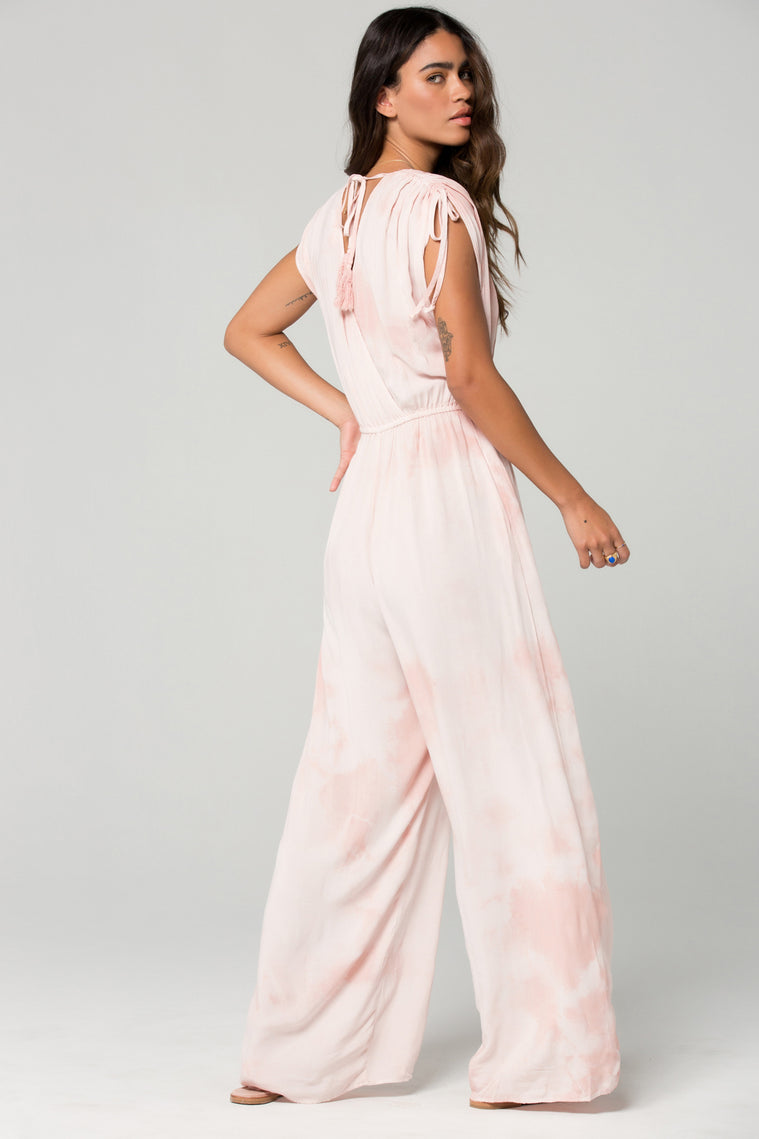 St Martins Blush Tie Dye Surplus Jumpsuit Back 2