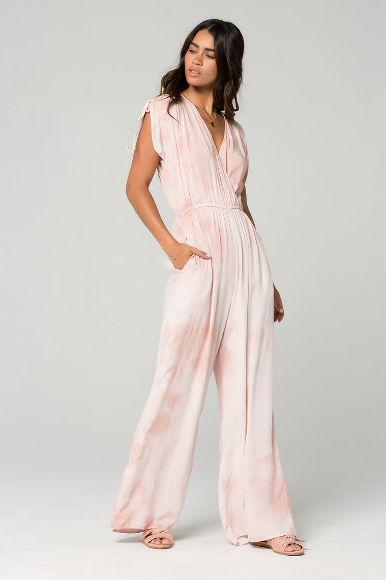 St Martins Blush Tie Dye Surplus Jumpsuit Side