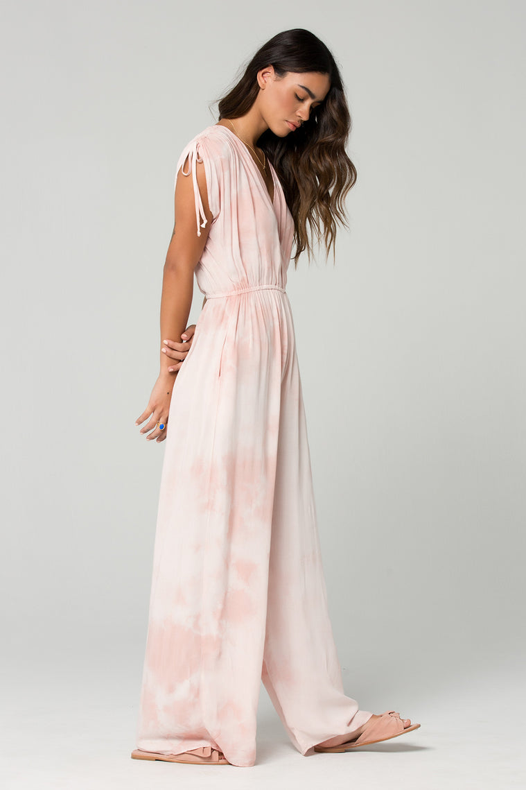 St Martins Blush Tie Dye Surplus Jumpsuit Side 2