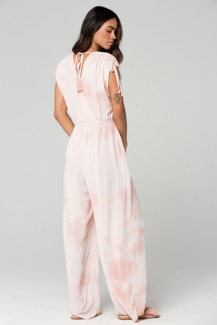 St Martins Blush Tie Dye Surplus Jumpsuit Back