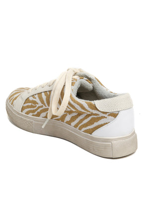 Star Natural Zebra Canvas Sneakers Back