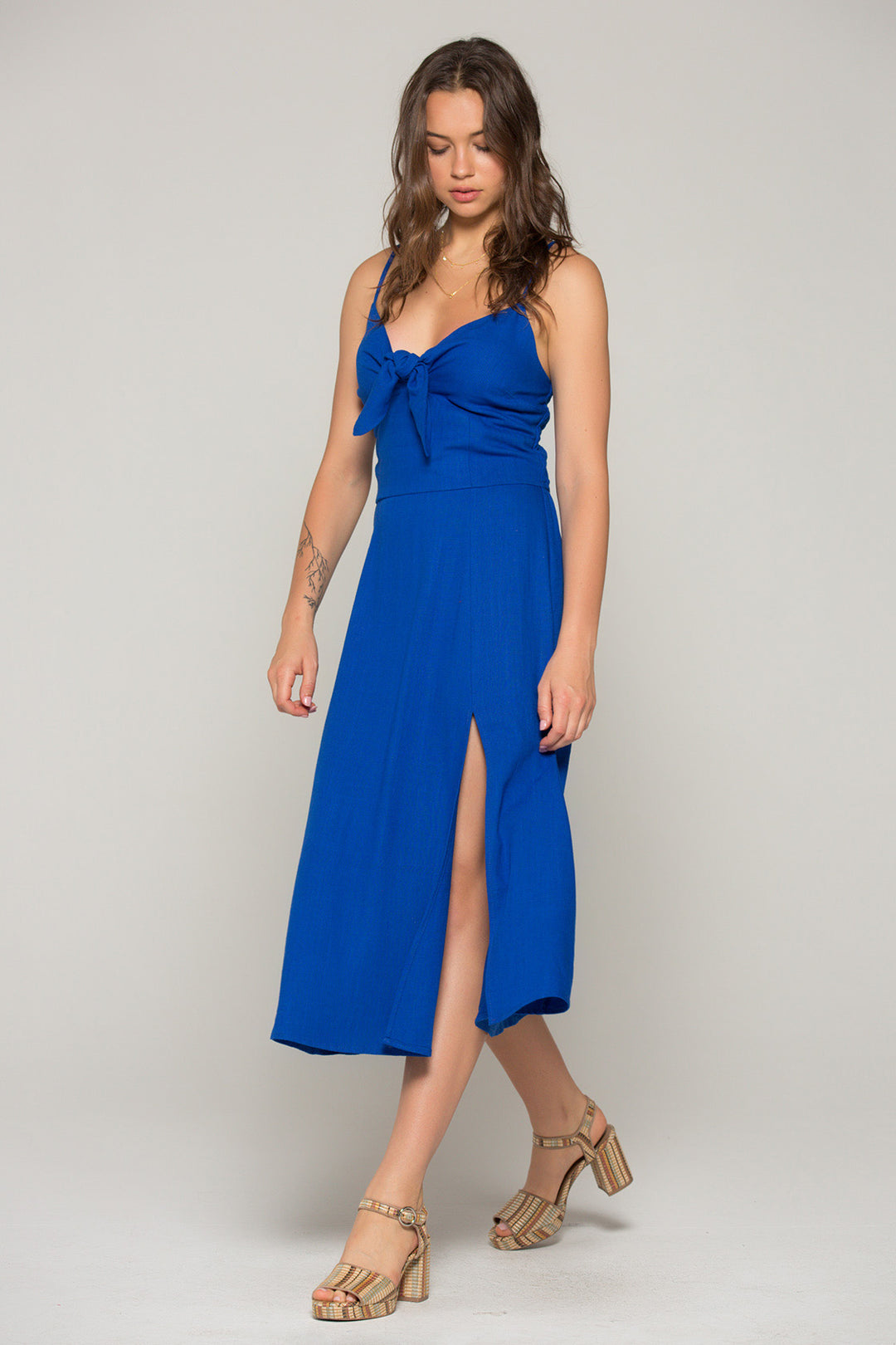 Stella Royal Blue Tie Midi Dress Master