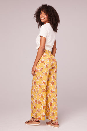 Stella Golden Wide Leg Pants Back