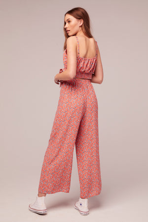 Sunflower Floral Print Pant Back