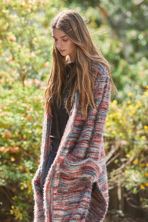 Sunset Blvd Mixed Knit Duster Sweater