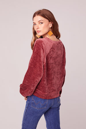 Tiramisu Long Sleeve Sweater Back